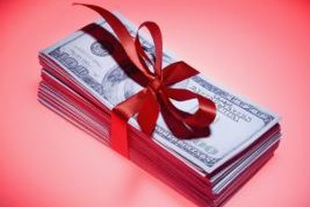 Wrapping money as a gift can surprise the recipient.