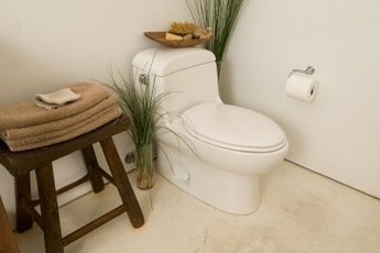 Strict environmental laws require toilets to flush using less than two gallons of water.