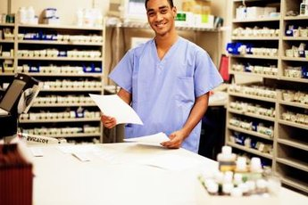 Pharmacy technicians assist pharmacists in receiving and dispensing medications.