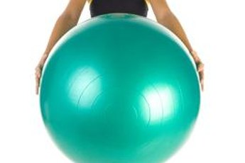 An exercise ball can provide a little lift for your sagging sisters.