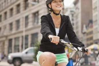 Cycling is an effective, low-impact way to burn calories.