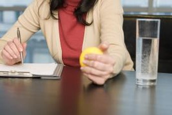 Work your forearms while pretending to pay attention to the meeting.