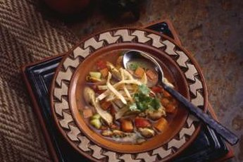 Tortilla soup is healthy and comforting.