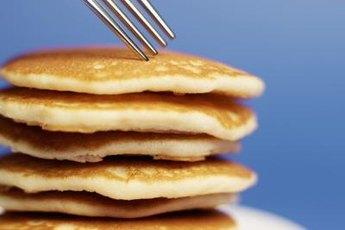 Adding blueberries to pancakes provides antioxidant flavonoids.