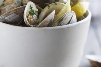 Fresh clams are a tasty source of B-12.