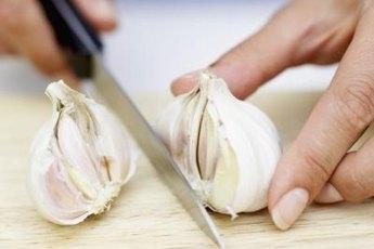 Chopped garlic is a low-sodium seasoning for recipes.