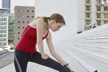 Core Strength Leg Exercises for the Sideways Stairs