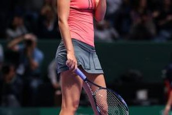 After a victory, Maria Sharapova is ready for her cool down.