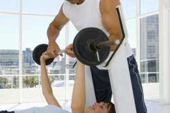 Bench presses build your chest, shoulder and upper-arm muscles.