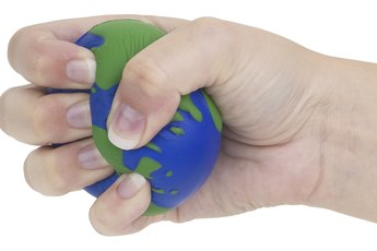 How to Exercise Small Hands & Fingers Using a Ball