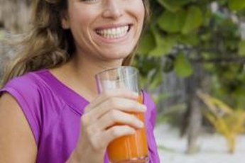 Enjoy a cup of 100 percent juice for half of the daily fruit recommendation.