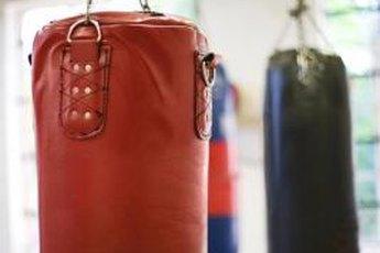 A punching bag makes a good workout buddy.