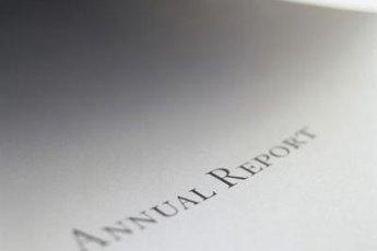 A company reports annual revenues in its annual report.