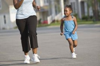 Jogging can be a family activity.