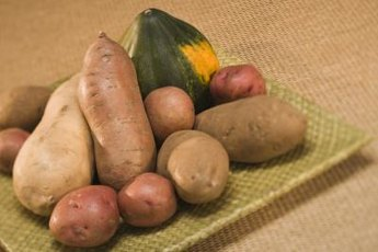 Root vegetables are high in starch.