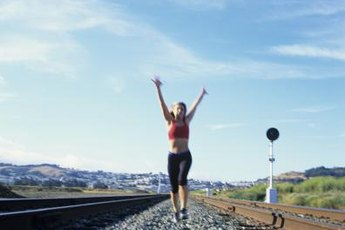Running on gravel can add a challenge to your workout routine.