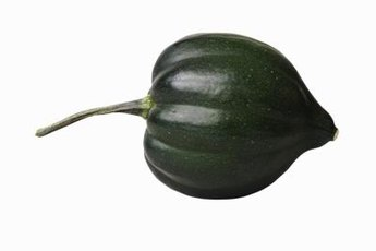 An acorn squash is a good source of carbs, fiber and other nutrients.