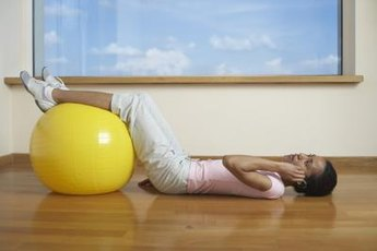 Use the stability ball to increase the flexibility of your hip flexors.