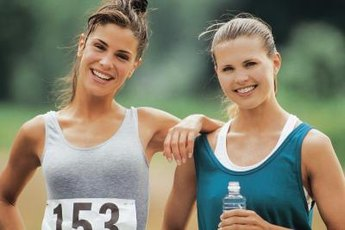 Stay motivated by racing with a friend.