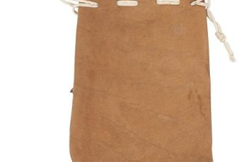 Make a simple drawstring bag to carry dog treats.