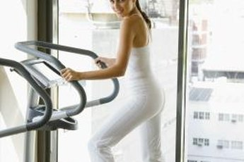 The elliptical machine is great for both static and dynamic groin stretches.
