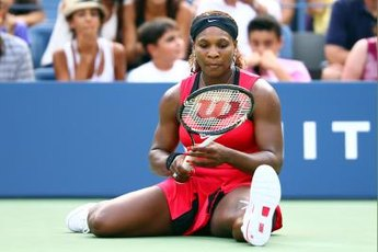 Serena Williams plays with a heavy 11-ounce racket.
