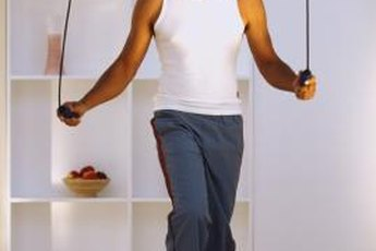 Jumping rope at home is a great, simple workout.