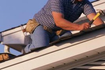 Re-roofing takes basic skills -- and a good sense of balance.