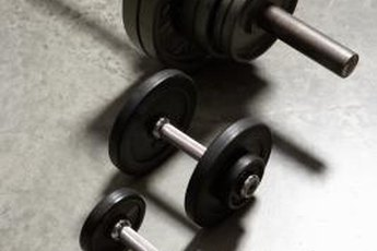 Free weights effectively work the glutes and hamstrings.