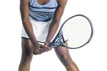In ready position, a tennis player can move in any direction quickly.