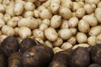Potatoes and rice are high in carbs, nearly fat-free and low in protein.