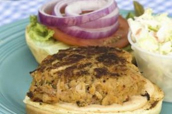 Enjoy a lean turkey burger on whole-grain bread.