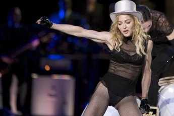 Madonna's workouts still leave a bit of persistant underarm flab.