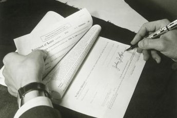 Both parties should sign the flat rental document.