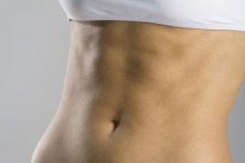 Tighten your stomach with weight training.