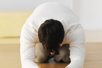 Bikram Yoga Poses: The Half Tortoise Pose