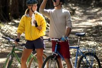 Staying hydrated is important on even a short, leisurely ride.