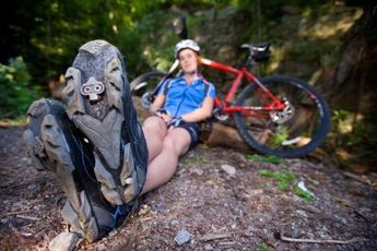 Practice mountain biking with the right equipment and a few drills.