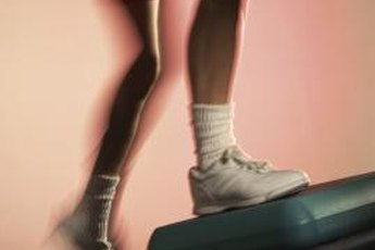 Step-ups develop three of the major muscles in the legs.