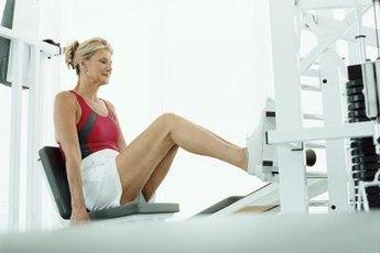 Leg press machines work multiple muscles.