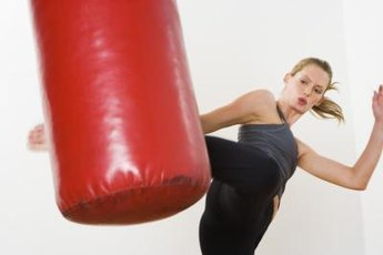 Effective kickboxing combinations can surprise an opponent.