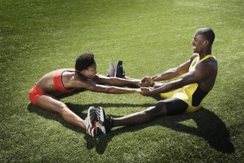 Assisted stretching means stretching with a partner.