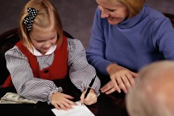 A parent is often a cosigner for a child's account.