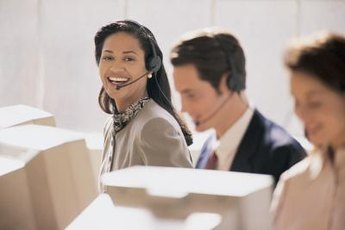 Many airline reservationists work in call centers.