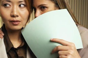 Rumors in the workplace can result in conflicts between co-workers.