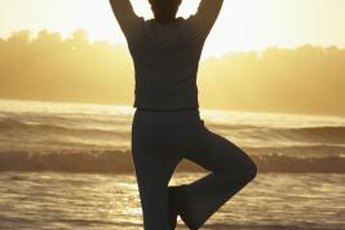 Yoga can help strengthen and tone flabby arms.
