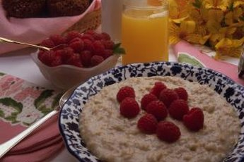 Oat meal and berries are rich in soluble fiber.