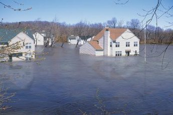 Flood damage is not included in standard homeowners policies.