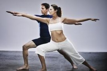 Breathe into hip-opening poses such as Warrior II.
