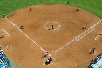 Strong infield defense is a key to softball success.